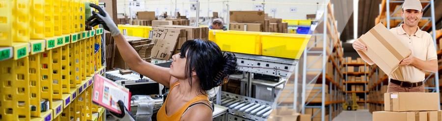 Работа на складе отбор товаро под управлением wms